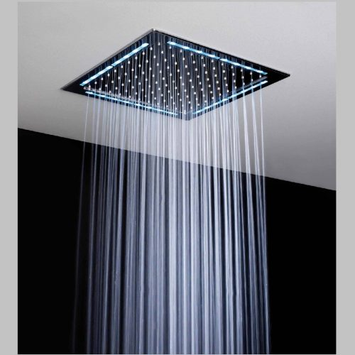 Just Taps Plus LED Light O/head 300mm Square Ceiling Head A755