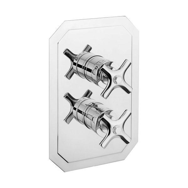 Crosswater Waldorf Chrome Crosshead thermostatic shower valve-0