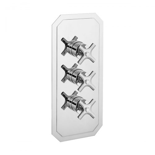 Crosswater Waldorf Chrome Crosshead 3000 thermostatic shower valve-0