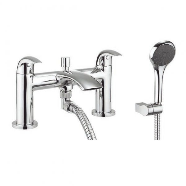 Adora Crescent Curved Lever Bath Shower Mixer MBCR422D