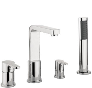 Adora Feel 4 Hole Bath Shower Mixer Set MBFE440D