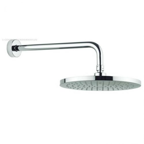 Adora Fusion 250mm Round Fixed Shower Head and Arm MBFUWF25