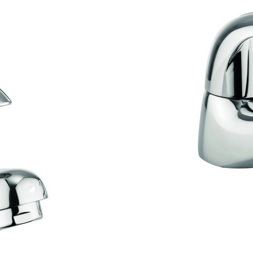 Adora Sky Normal Basin Pillar Taps in Chrome MBSY140N