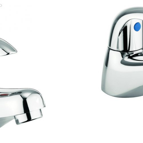 Adora Sky Normal Bath Pillar Taps in Chrome MBSY340D