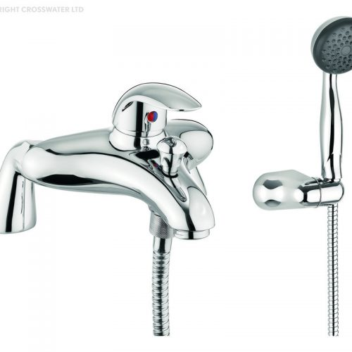 Adora Sky Bath Shower Mixer Tap on Pillars in Chrome MBSY421D