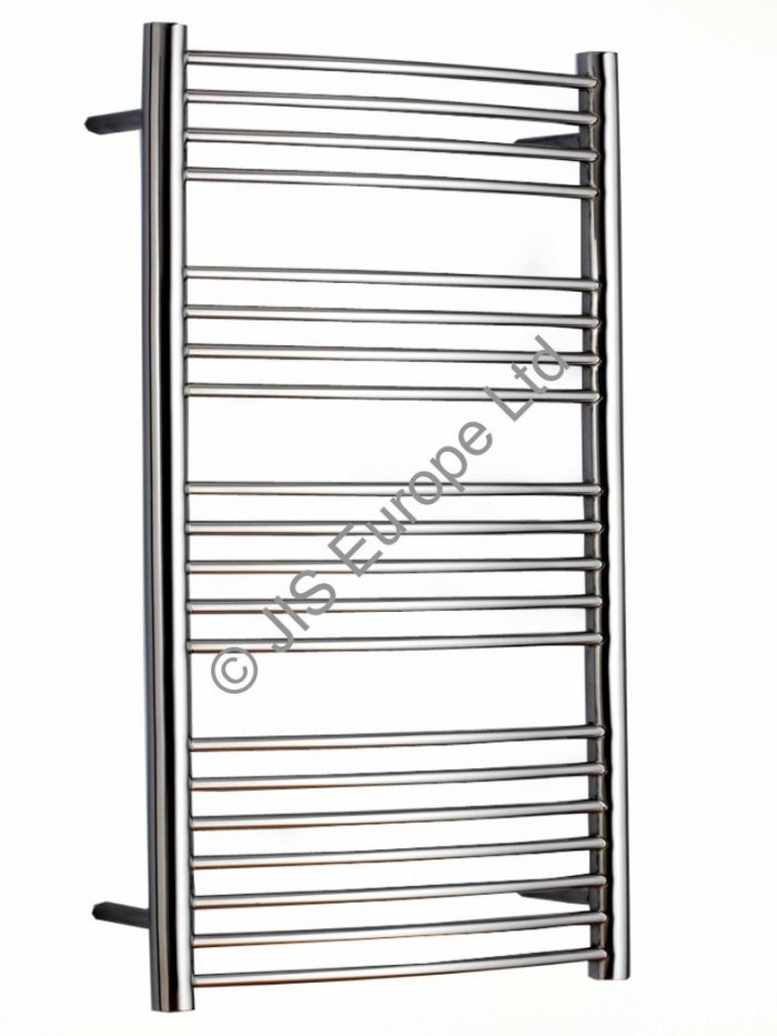 JIS Adur 400 x 1250mm Stainless Steel Heated Towel Rail