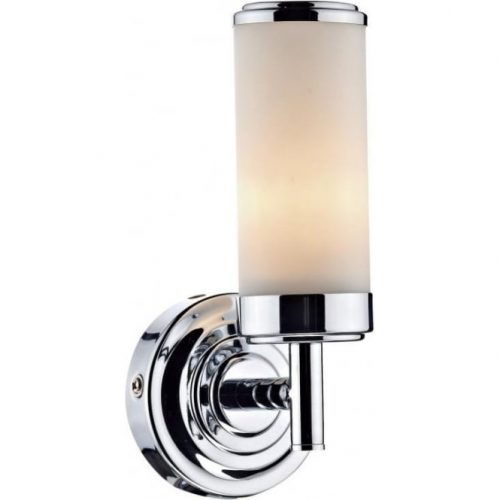 Art Deco Style Bathroom Wall Light in Chrome