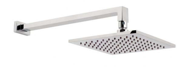 Vado square shower head 200mm x 200mm with arm