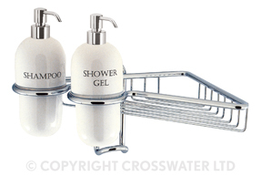 Crosswater Solo Wire Basket Single Ceramic Dispensers AV13