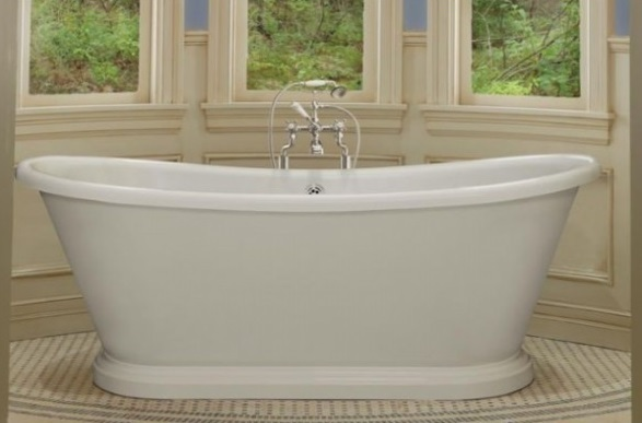 BC Designs 1700 x 750mm Double Skinned Acrylic Boat Bath-0