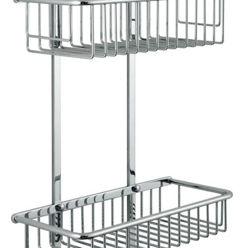stock Vado large rectangular double wire shower basket