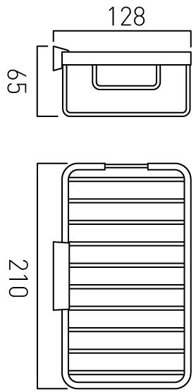 Vado medium rectangular basket wall mounted BAS-2016M-C/P