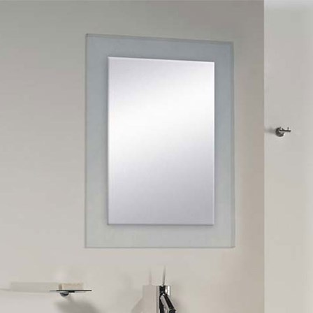 Bathroom Origins Denver Mirror Clear Glass 500 x 650mm 323384