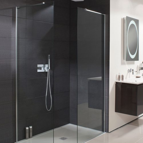 Simpsons Design Wet Room Walk In Fixed 8mm Glass Panel 1200mm DSPSC1200-0