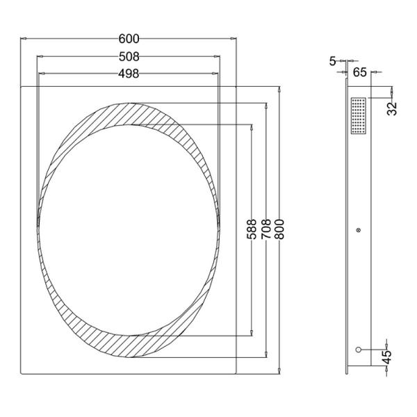 Bauhaus Revive 80 x 60cm LED Lit Mirror Bluetooth MEB8060B-15699