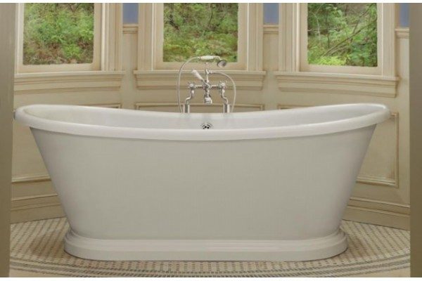BC Designs 1580 x 750mm Double Skinned White Boat Bath-0