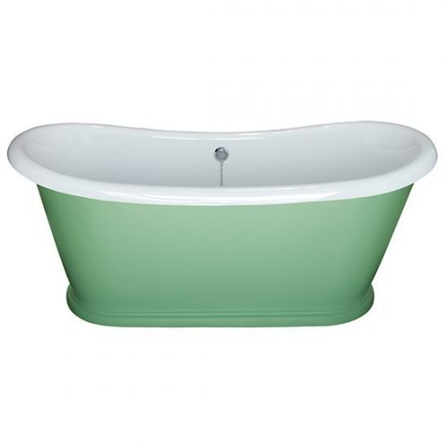 BC Designs 1580 x 750mm Chappell Green Acrylic Boat Bath-0