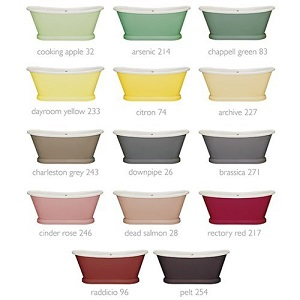 BC Designs 1580 x750mm Cooking Apple 32 Acrylic Boat Bath