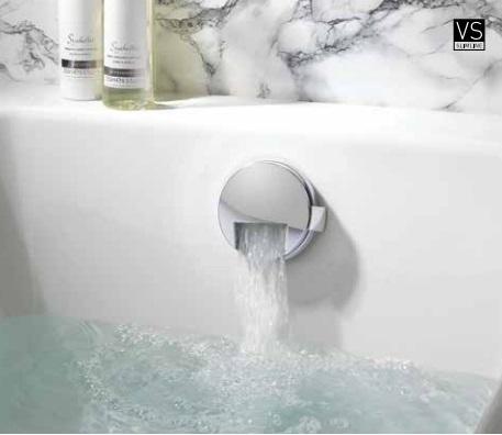 Crosswater Slim Extended Click Clack Bath Filler BFW0169C