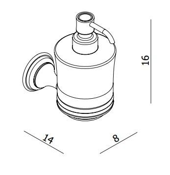 Crosswater Belgravia Traditional Soap Dispenser BL011C