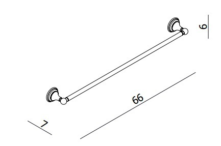 Crosswater Belgravia Chrome Single Towel Rail BL023C