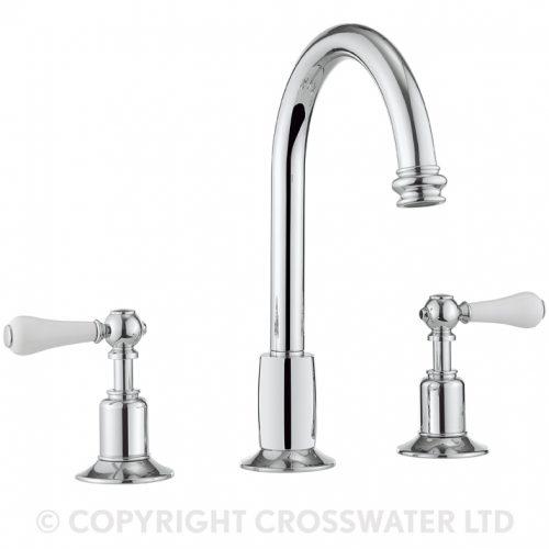 Crosswater Belgravia Lever 3 hole basin mixer BL135DPC_LV