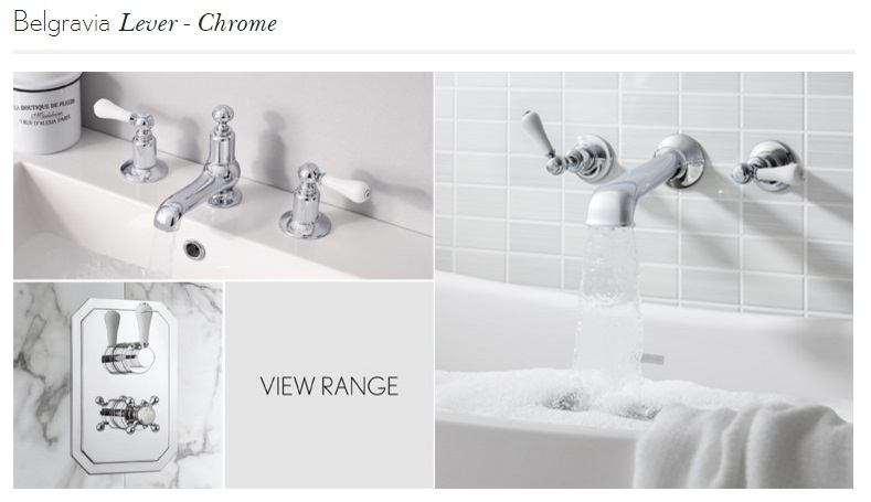 Crosswater Belgravia Lever wall stop taps BL350WC_LV