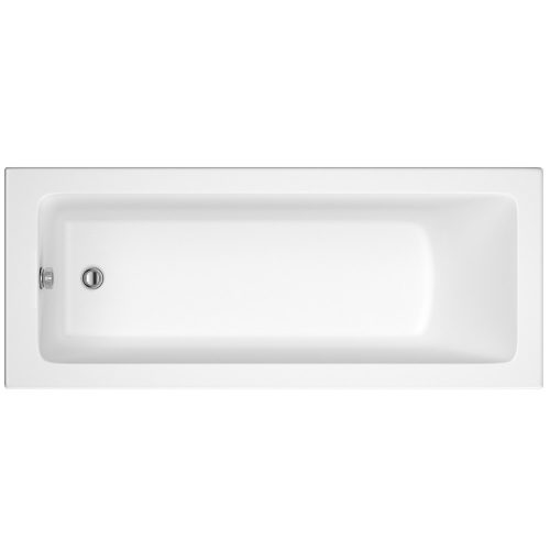 Hudson Reed White Square Single End Bath 1600X700 Bmon007
