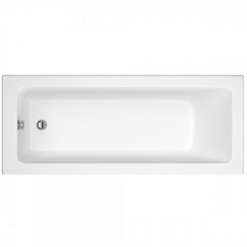 Hudson Reed White Square Single End Bath 1800X800 Bmon010
