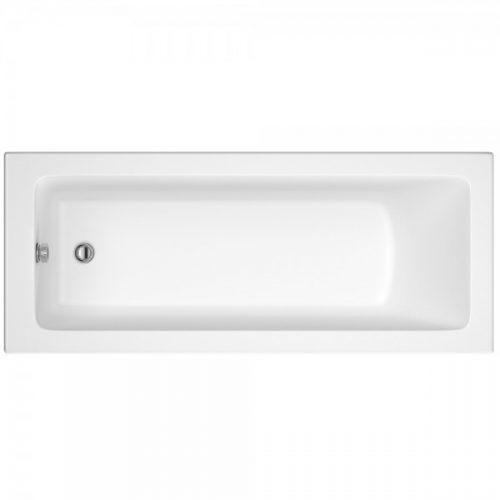Hudson Reed White Square Single End Bath 1800X800 Bmon010