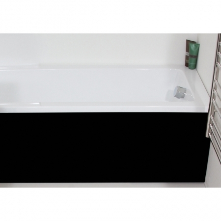 Saneux 1700 black gloss bath panel BP1802