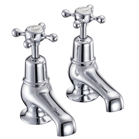 "Burlington Regent Chrome Plated Basin Taps 3"" Spout-0"