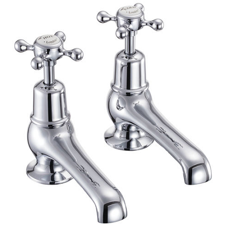 "Burlington Deck Mounted Chrome Plated Basin Taps 5"" Spout-14421"