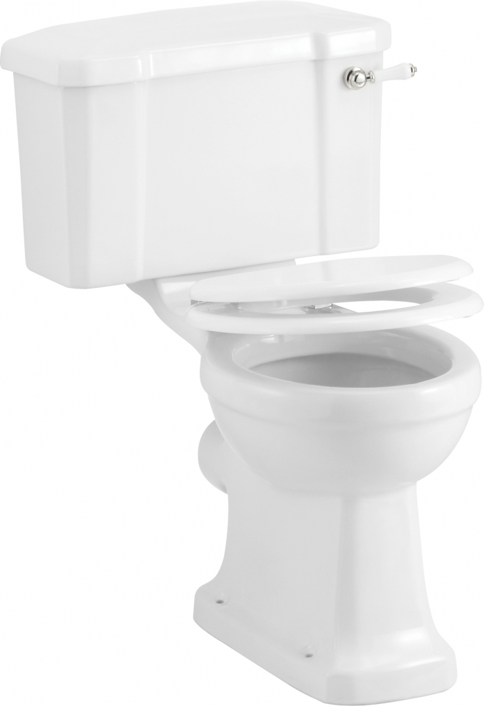 Burlington Close Coupled Traditional Toilet WC with Seat P5 C1 S18-0