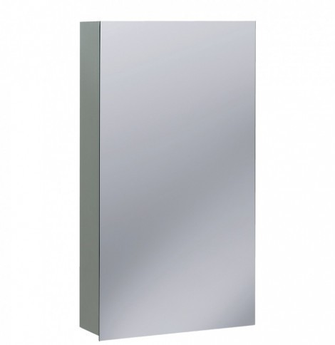 Crosswater 40cm Narrow Bathroom Mirror Cabinet CB4070AL