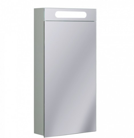 Bauhaus 40cm Wide LED Narrow Bathroom Cabinet CB4080AL+