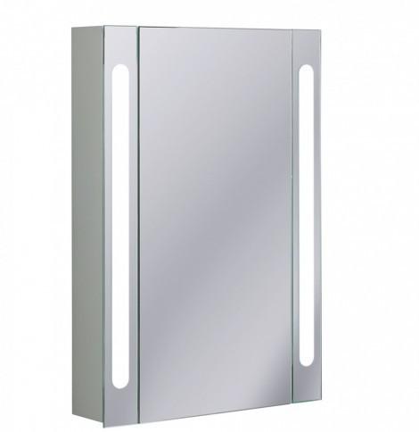 Crosswater 55cm LED Aluminium Bathroom Cabinet CB5580AL