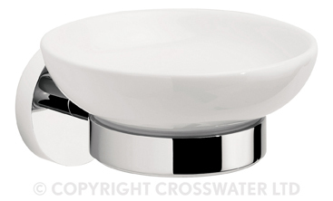 Crosswater Central Ceramic Wall Soap Holder CE005C