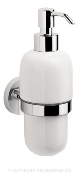 Crosswater Central Ceramic Wall Soap Dispenser CE011C