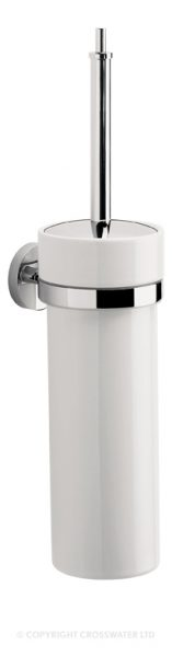 Crosswater Central Toilet Brush and Ceramic Holder CE025C