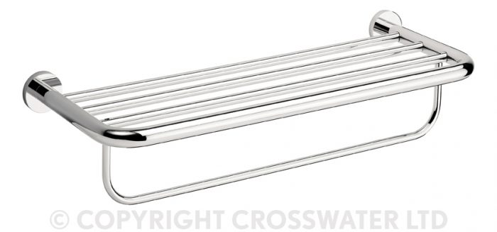 Crosswater Central Towel Rack & Rail 2 Tier 580mm CE026C