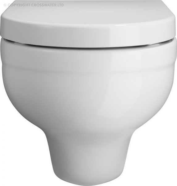 Bauhaus Central White Wall Hung Toilet WC Pan ONLY CE6006CW