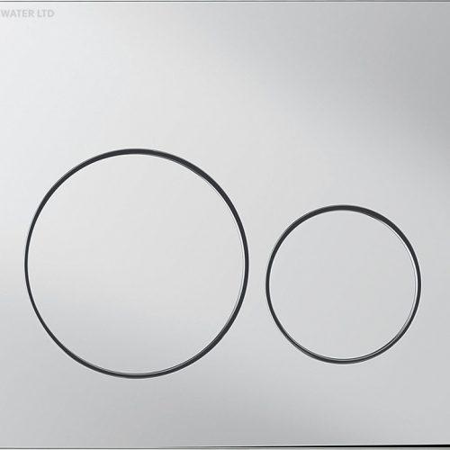 Bauhaus Central flush plate Chrome CEFLUSHC+