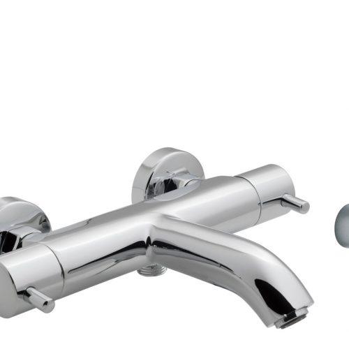 Vado exposed thermo bath shower mixer CEL-123T+K-C/P
