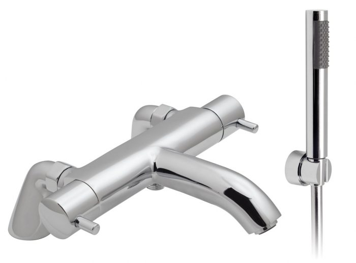 Vado thermo bath shower mixer with kit CEL-131T+K-C/P