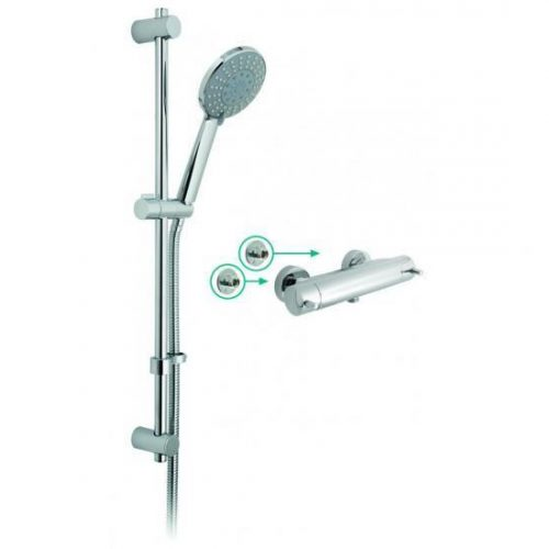 Vado Celsius exposed thermostatic shower valve CEL-1701-3/4-11-C/P