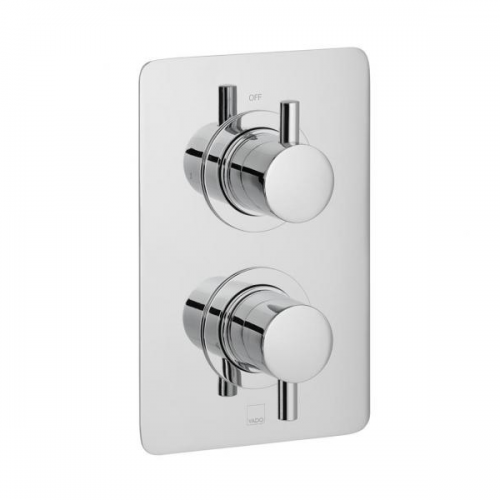Vado Celsius 1 Outlet 2 Handle Square Thermostatic Shower Valve-0