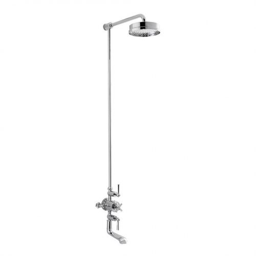 """Waldorf Chrome Thermo Bath Shower Mixer With 12"""" Head"""