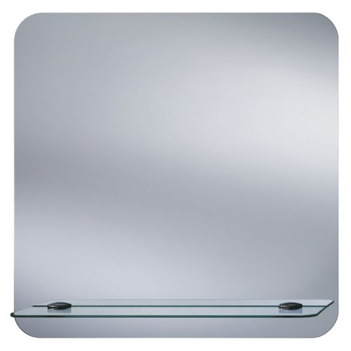 Curve Bathroom Mirror with Glass Shelf Ledge B004860