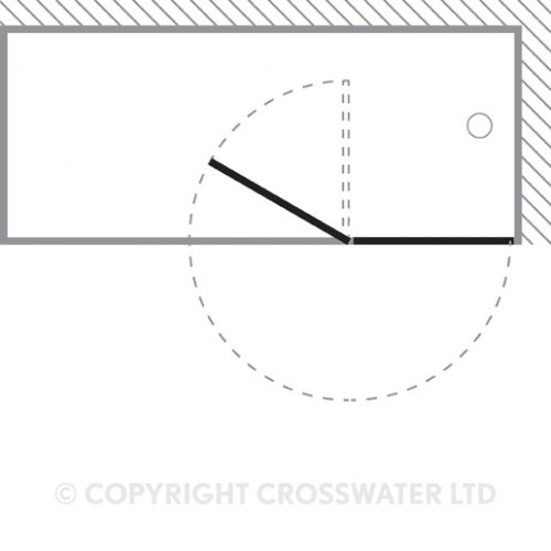 Crosswater Design Outward Opening Bath Screen DBDSC1060